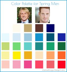 Color Palette for Spring Men