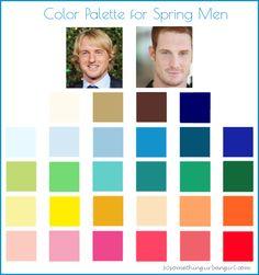 Color Palette for Spring Men