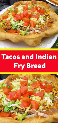 Tacos and Indian Fry Bread will forever and always be one of my favorite foods! Yes, eating healthy is great and all but sometimes we need some all-out comfort food like these Fry Bread Tacos. #Tacos #Indian #Fry #Bread Mexican Meals, Mexican Dishes, Indian Food Recipes, Mexican Food Recipes, Hamburger Recipes, Beef Recipes, Cooking Recipes, Navajo Tacos, Party