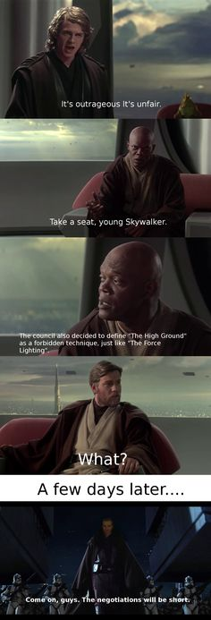 Memes of the Star Wars Prequels. Star Wars Film, Star Wars Clone Wars, Star Wars Jokes, Star Wars Facts, Rasengan Vs Chidori, Starwars, Prequel Memes, Star Wars Images, You Are The Father