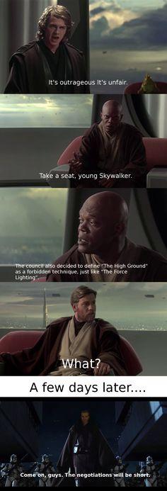My allegiance is to the highground to democracy!