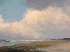 Vlieland strand 40x60cm on canvas.  Door Herman Dasselaar