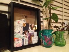 DIY ticket box with shadow frame(maybe as a prayer frame, drop prayer requests in?....)