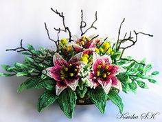Creative Floral Compositions by Oksana Konovalova   Beads Magic