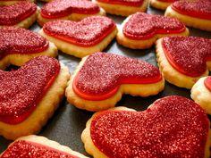 valentine's day cookies :D
