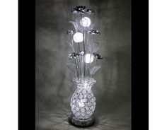 Moonlit Silver Woven Wire Table Lamp