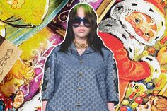Celebrity Fashion: Billie Eilish Looking Unbothered in Custom Gucci PJs Was a Huge Mood in 2019 Sneakers Looks, Alessandro Michele, Her Music, Losing Her, Fashion Editor, Hush Hush, Billie Eilish, Pjs, Pajama Set