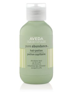 "Aveda Pure Abundance Hair Potion. Ditch the ""Bump It"" and grab your teasing comb. Or, add to your hairspray for a beachy texture."