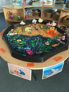 Senses Activities, Nursery Activities, Kindergarten Activities, Sensory Games, Sensory Bins, Preschool Layout, Tuff Tray Ideas Toddlers, Sand Tray, Tuff Spot