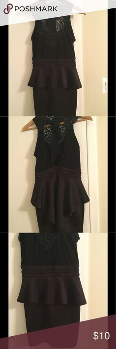 Cute dress size L Nice dress with lace around the top, open back with tie around the neck.  Used but good condition Love Culture Dresses Backless