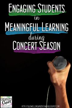 engaging students in meaningful learning during concert season. Organized Chaos. ideas for incorporating skill development and keeping students engaged when you're preparing music for a concert, sing along, caroling, assembly, or other holiday music event. Great ideas and easy to implement- no materials and little prep!