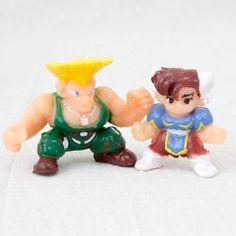 Set of 2 Street Fighter 2 Mini Figure GUILE CHUN-LI Capcom JAPAN GAME