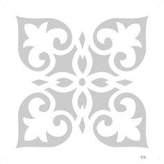 Motivo árabe para darle un toque de sofiscicacion a tus textiles del hogar.Todas las plantillas van acompañadas de un cojín en color blanco sin relleno.