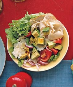 Turkey Salad With Tomato, Avocado, and Parmesan | Refreshingly easy recipes for when it's too hot to cook.
