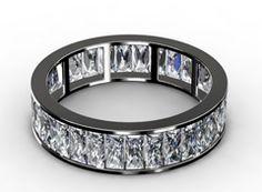 Diamant Ehering Absolut, 750er Weißgold 18 Karat