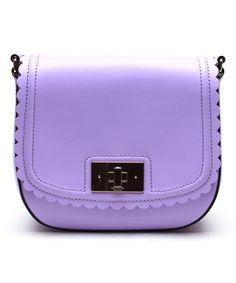Kate Spade Purple Lilac Road Seth Leather Crossbody Bag   zulily