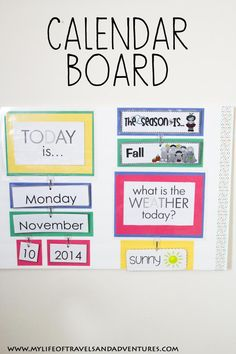 Calendar Board: An easy DIY Calendar Board for Homeschool or Preschool