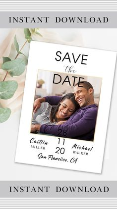 This personalized postcard has a beautiful minimalistic classic design and includes a PSD file to easily insert your photo and edit text. The reverse side of the postcard is clean. The template is intended for editing and further printing of this file at home, online printer, or local printing house… #save_the_date_cards #templates_save_the_date #cards_for_wedding #save_the_date_cards_rustic #vintage_save_the_date_cards #modern_save_the_date_cards #handmade_save_the_date_cards Destination Wedding Invitations, Save The Date Invitations, Vintage Wedding Invitations, Wedding Invitation Wording, Save The Date Cards, Wedding Stationery, Save The Date Templates, Edit Text