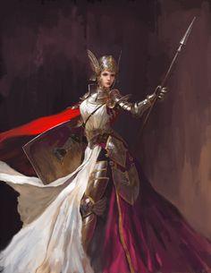 knight-female by Jay-c fantasy art