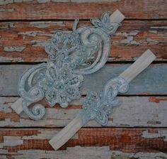 Blue Lace aWedding Garter Blue Garter Set by SpecialTouchBridal