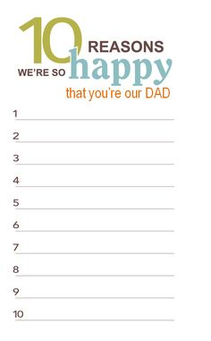 Free Father's Day Printables - good idea for the kids to send their dad while he is away this summer Fathers Day Presents, Fathers Day Crafts, Happy Fathers Day, Happy Daddy, Dad Gifts, Grandparent Gifts, Father's Day Printable, Free Printables, I Love My Dad
