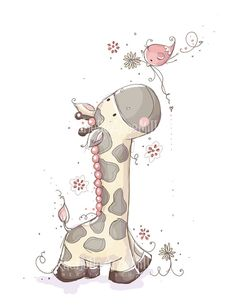 A Tall Friend by RachelleAnneMiller on Etsy, $20.00