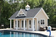 pergola plans Grand Victorian: Sheds, Storage Grand Victorian: Sheds, Storage Pool House Shed, Pool House Plans, Tiny House, Pool Outfits, Livingston, Victorian Sheds, Small Pool Houses, Patio Roof Covers, Pool House Designs