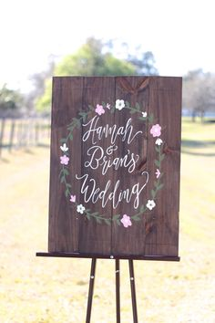 Personalized Rustic Wooden Wedding Sign // by ThePaperWalrus
