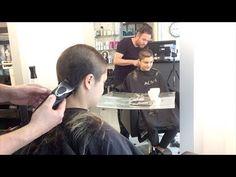 A haircut I did at Jitty's Hair and Makeup Amsterdam Hairdresser: Patrick Donders Model: Ipek Girls Short Haircuts, Short Girls, Buzz Cut Women, Buzz Cuts, Buzzcut Haircut, Buzzed Hair Women, Hair Movie, Half Shaved Hair, Bald Girl