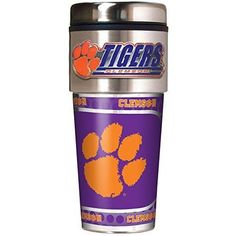 NCAA Clemson Tigers Metallic Travel Tumbler,  16-Ounce