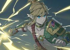 The Legend Of Zelda, Legend Of Zelda Breath, Gerudo Link, Link Art, Shoulder Armor, Twilight Princess, Breath Of The Wild, Cartoon Pics, Fire Emblem