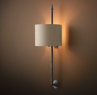 Brittany Architectural Railing Sconce - Aged Steel