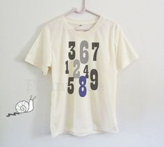Number art shirt kids toddlers boys girls clothing by TuesdayTee