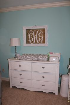 Mirror and changing table