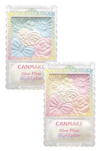 Canmake Glow Fleur Highlighter. It has two shades, one has a blue pigment and the other one has pink pigment. Both of them have yellow base pigment. Perfect highlighter to use every single day due being so natural and cute!