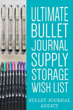 Store Your Bullet Journal Supplies - Bullet Journal Supply Storage - Best Storage For Bullet Journal Supplies #bulletjournal #bujolove #bujosupplies #bulletjournalsupplies #craftorganization #bujoorganization #bulletjournalorganization #bulletjournalideas #bujoideas Bullet Journal Font, Journal Fonts, Bullet Journal Themes, Bullet Journal Inspiration, Journal Ideas, Journal Organization, Craft Organization, Easy Doodles, New Pen