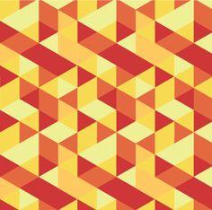 pattern 365 by Ahmed Mounir, via Behance red yellow orange