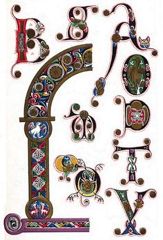 Anglo-Saxon lettering and decoration century Anglo-Saxon lettering and decoration, produced in the century. Illuminated Letters, Illuminated Manuscript, Celtic Fonts, Viking Embroidery, Book Letters, Celtic Patterns, Beautiful Calligraphy, Medieval Manuscript, Anglo Saxon