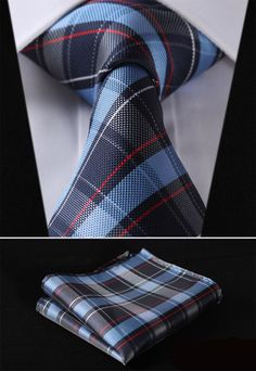 PLAID NECKTIE Stripe 3.4\