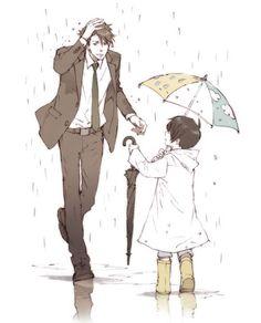Anime Dad, Anime Child, Cute Anime Boy, Anime Guys, Manga Boy, Manga Anime, Passe Psycho, Chibi, Anime Bebe