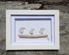Sea glass art work by HookedinMaine on Etsy