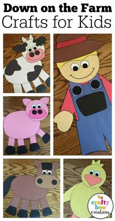 These down on the farm craft patterns are perfect for preschool and kindergarten children. The size of the patterns are large enough for little hands and easy to cut around.