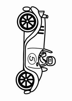 Coloring page oldtimer racing car - coloring picture oldtimer racing car. Free coloring sheets to print and download. Images for schools and education - teaching materials. Img 24085.