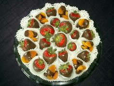 40th Birthday sweets Chocolate Covered Strawberries and Apricots