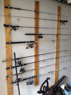 How to hang the fishing rods