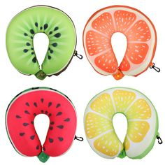 Power Source Lovly Fruit U Shaped Travel Pillow Cushion Beautiful Fruit Pattern Neck Pillow For Home Office Rest Comfortable Pillow Clearance Price