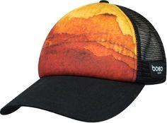 e65e3d6ac5523 BOCO Gear Foam Technical Trucker Hat Black Orange Gears