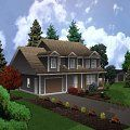 two storey with attached garage jonesco Attached Garage, Custom Decks, New Builds, Nova Scotia, New Homes, Cabin, Mansions, House Styles, Building