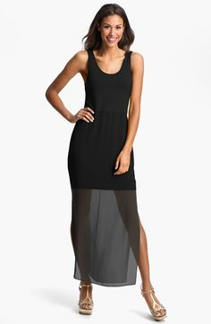 Vince Camuto Chiffon Overlay Tank Dress available at #Nordstrom