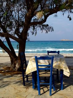 place in the shade , Crete, Greece
